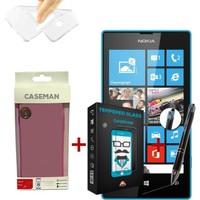Case Man Nokia Lumia 532 Silikon Kılıf + + Stylus Kalem