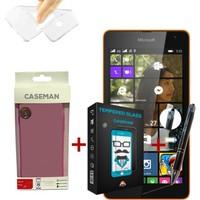 Case Man Nokia Lumia 535 Silikon Kılıf + + Stylus Kalem