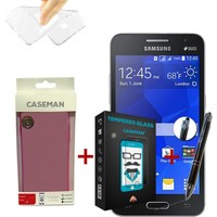 Case Man Samsung Galaxy Core 2 Silikon Kılıf + + Stylus Kalem
