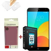 Case Man Meizu MX4 Pro Silikon Kılıf + 9H Temperli Ekran Koruyucu