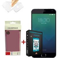 Case Man Meizu MX5 Pro Silikon Kılıf + Kırılmaz Cam 9H Temperli Ekran Koruyucu