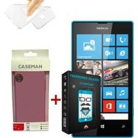 Case Man Nokia Lumia 532 Silikon Kılıf + 9H Temperli Ekran Koruyucu