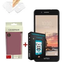 Case Man Vestel V3 5020 Silikon Kılıf + Kırılmaz Cam 9H Temperli Ekran Koruyucu