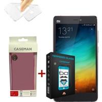 Case Man Xiaomi Mi4s Silikon Kılıf + 9H Temperli Ekran Koruyucu