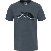 The North Face Mountain Line Erkek T-Shirt Gri