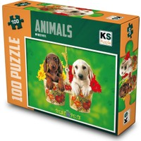 Ks Games 100 Parça My Best Pets Mini Puzzle 0993