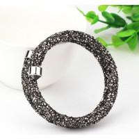 Monemel Swarovski®® Taşlı Crystal Dust Bileklik - Siyah