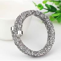 Monemel Swarovski®® Taşlı Crystal Dust Bileklik - Gümüş Gri