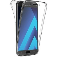 Microsonic Samsung Galaxy A3 2017 Kılıf 6 tarafı tam full koruma 360 Clear Soft Şeffaf