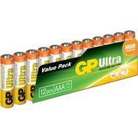 GP Ultra Alkalin 12'li AAA Boy İnce Pil (GP24AU-VS12)