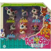 Littlest Pet Shop Neşeli Minişler 6'lı Miniş Ailesi Oyuncak Pet Star Little Minişler Beyazlı Grili Miniş Ailesi