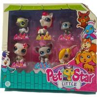Littlest Pet Shop Neşeli Minişler 6'lı Miniş Ailesi Oyuncak Pet Star Atlı Tavşanlı Model 6'lı