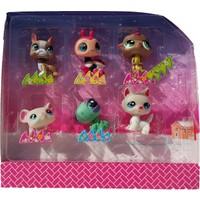 Littlest Pet Shop Neşeli Minişler 6'lı Miniş Ailesi Oyuncak Pet Shop Minişler Uğur Böcekli Set