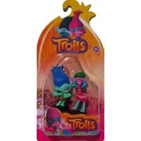 Trolls Figür Oyuncak Yağmur Ormanı Şans Bebekleri 2'li
