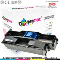 Toner Max® Oki B401 / MB411 / MB441 / MB451 / 44574307 Muadil Drum Ünitesi