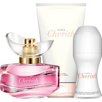 Avon Cherish Moment Krem Rollon Üçlü Set