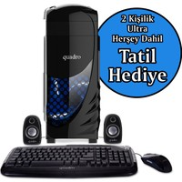 Quadro Solid STT03TR-84457 Intel Core 2 E8400 4GB 500GB Freedos Masaüstü Bilgisayar + Belek Tatili