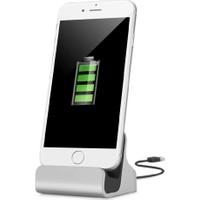 Ally Akıllıphone Apple iPhone 5S,6,6S,7, 7 Plus 2İn1 Standlı Usb Dock