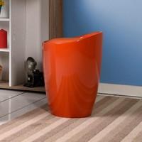 Handy Mate Oval Sandıklı Tabure - Parlak Koyu Turuncu