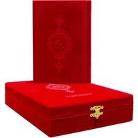 Hayrat Kadife Kutulu Çanta Boy Kuran-ı Kerim (Kırmızı)