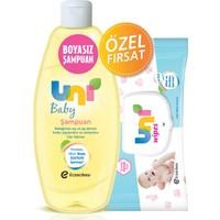 Uni Baby Şampuan 750 Ml (Flip) + Wipes Havlu