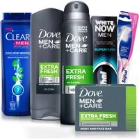 Dove Erkek Bakım Seti (Deodorant + Diş Macunu + Diş Fırçası + Şampuan) + Seyahat Çantası