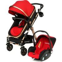 Weego Seyahat Sistem Bebek Arabası 3 in 1 - Kırmızı