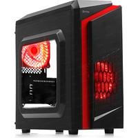 Dark F40 500W 80+ 2x Kırmızı LED Fan USB3.0 Pencereli Midi Tower(ATX) Kasa (DKCHF40P580)