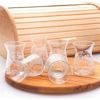 Joy Glass 6 Lı Çay Bardağı Şal Desen
