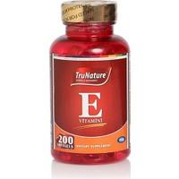 TruNature E Vitamini 200 Softgels SKT:12/2018