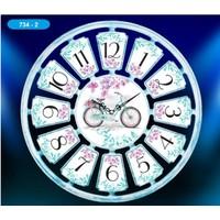 Dekoratif Mavi Bisiklet Duvar Saati