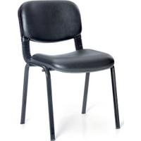 Mavi Mobilya Form Sandalye Siyah Suni Deri (1 Adet)