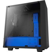Nzxt S340 Mid Elite Oyuncu Bilgisayar Kasası Mat Siyah Mavi