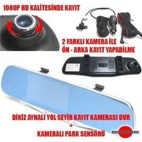 Carub Araç Kayıt Cihazı Kameralı Park Sensörü 2 Kameralı