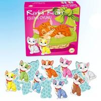 Ekip Oyuncak Eşleme Oyunu Renkli Kediler / Renkli Köpekler 1610 1606