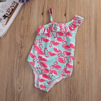 Toddler Kids Flamingo Desenli Bebek Mayosu 4-5 Yaş İçin Mayo