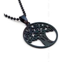 Solfera Yggdrasil Dünya Ağacı Ragnarok Siyah Çelik Kolye K730