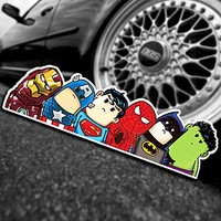 Solfera Marvel Dc Süper Kahramanlar Otomobil Pencere Etiketi Cs031