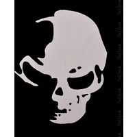 Solfera Kurukafa Skull Hayalet Otomobil Sticker Etiket Cs037