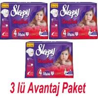 Sleepy Sensitive 4 Maxi 33 Adet (8-18 Kg) 3'lü Paket