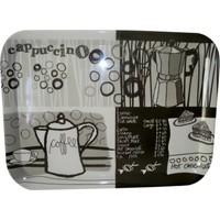 Bosphorus Büyük Boy Dikdörtgen Tepsi Kahve Desenli