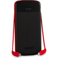 S-link IP-1012 10000mAh Powerbank Siyah/Kırmızı Taşınabilir Pil Şarj Cihazı
