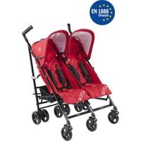 Kraft Nitro İkiz Bebek Arabası Kırmızı