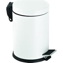 Hiper 5Lt. Pedallı Renkli Çöp Kovası - Beyaz