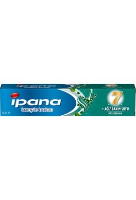 İpana Komple Bakım Diş Macunu + Ağız Bakım Suyu Ferahlatıcı Temizlik Güçlü Nane 50 ml