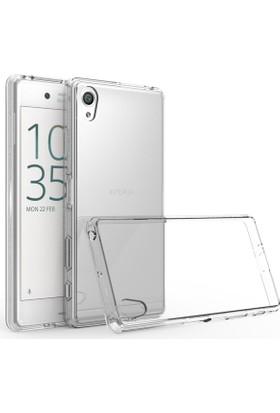 Case 4U Sony Xperia X Kılıf Ultra İnce Silikon Şeffaf