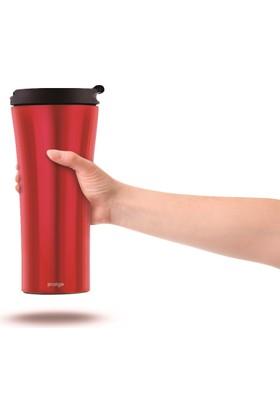 Pratigo Devrilmez Gecko Kırmızı Renk Termos/Mug