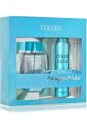 Rebul Colors Endless Turquoise Edp 75 ml Kadın Parfüm + 150 Ml Deodorant Set