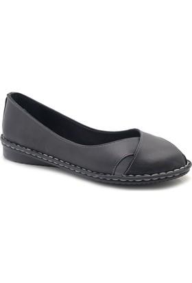 İz Deri Ortopedik Hakiki Organik Deri Kadın Ayakkabı