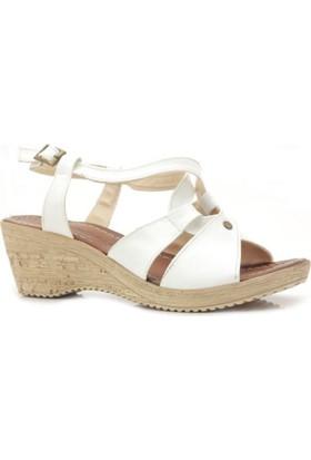 Lady Beyaz Dolgu Topuk Kadın Ayakkabı